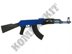 R137 Die-Cast Metal 8 Shot Toy Cap Rifle AK47 Machine Gun Police Blue